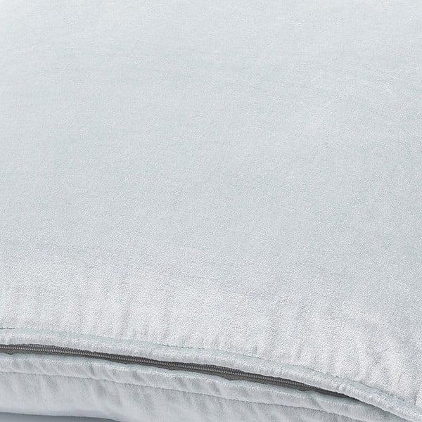 Strieborný vankúš Fluweel, 45x45 cm
