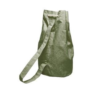 Jednoduchý látkový vak Linen Green Moss, šírka 40 cm