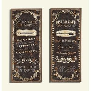 Nástenná dekorácia Bistro Café, 2 ks