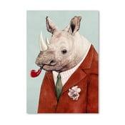 Plagát Rhino, 30x42 cm