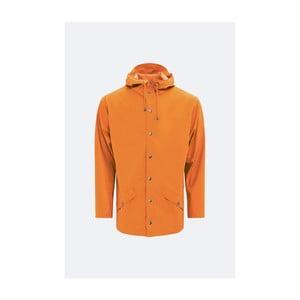 Oranžová unisex bunda s vysokou vodeodolnosťou Rains Jacket, veľkosť L / XL