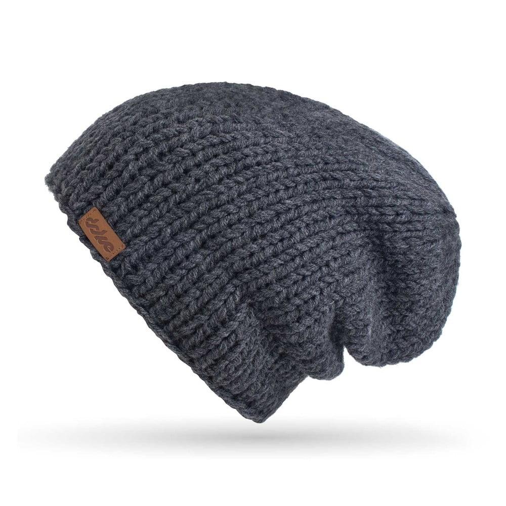 d7c0a6e0f Tmavosivá ručne pletená čiapka DOKE Mina | Bonami