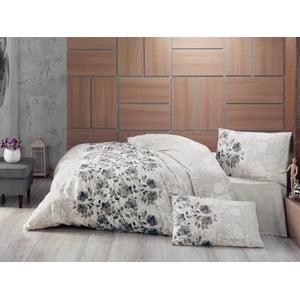 Prikrývka na posteľ a obliečky na vankúš Lena Grey, 220x230 cm