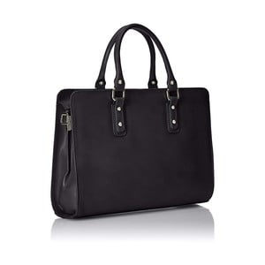 Čierna kožená taška Chicca Borse Paola