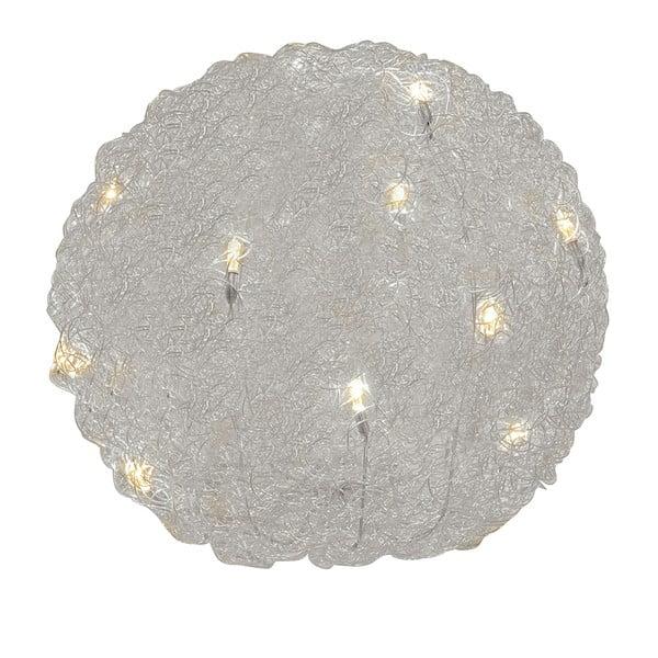 Stolová lampa Almni 30 cm, strieborná