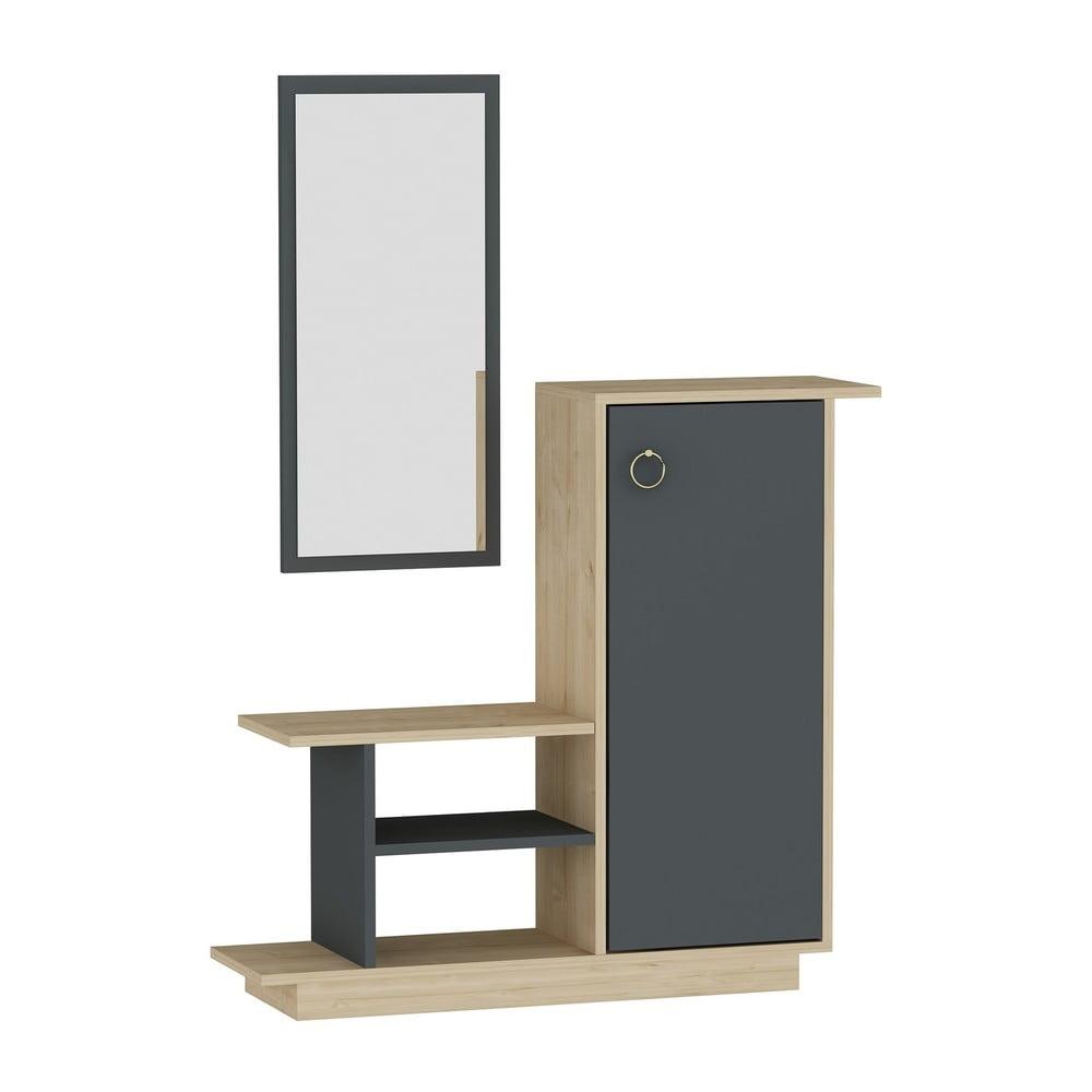 Predsieňová stena so zásuvkou a zrkadlom Arnett Asia
