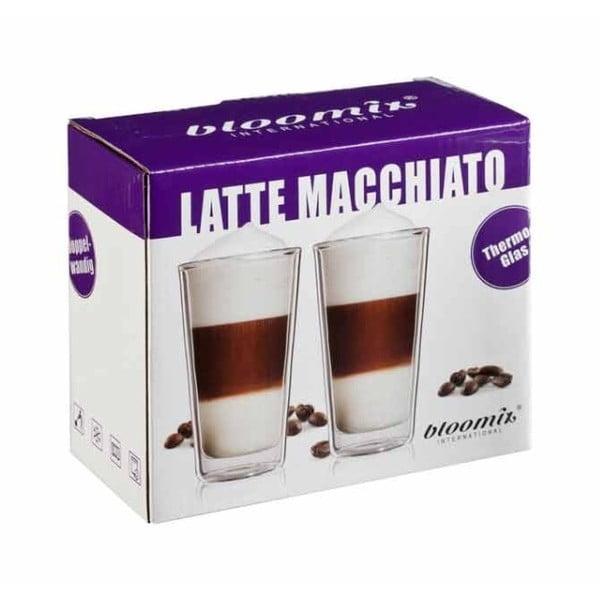 Sada 2 pohárov na latte macchiato bloomix Milano