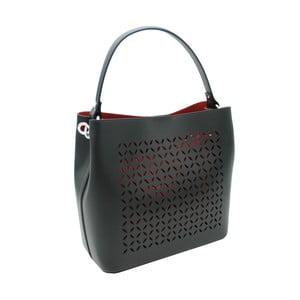 Čierna kabelka z pravej kože Andrea Cardone Albertina