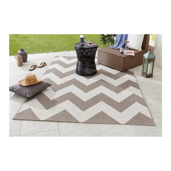 Béžovo-biely koberec vhodný aj do exteriéru Unique, 120×170cm