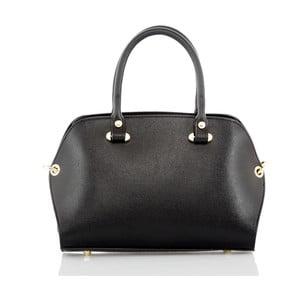 Čierna kožená kabelka Glorious Black Grazia