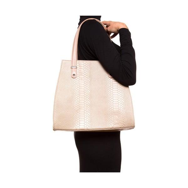 Kožená kabelka Luisa Vannini 8028, béžová