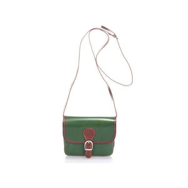 Kožená kabelka Shray, zelená