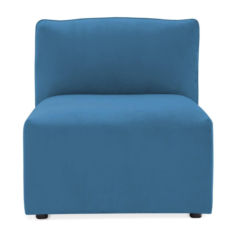 Modrý prostredný modul pohovky Vivonita Velvet Cube