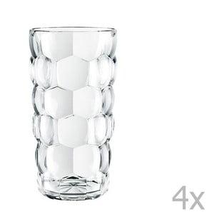 Sada 4 pohárov z krištáľového skla Nachtmann Bubbles, 390 ml