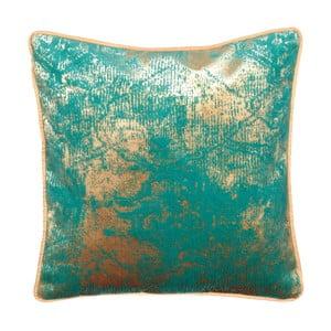 Tyrkysovo-béžový obojstranný vankúš Kate Louise Muro, 45 × 45 cm
