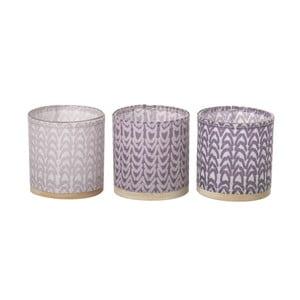 Sada 3 svietnikov Weave Purple