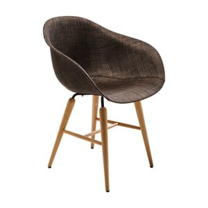 Tmavohnedá jedálenská stolička Kare Design Armlehe Forum