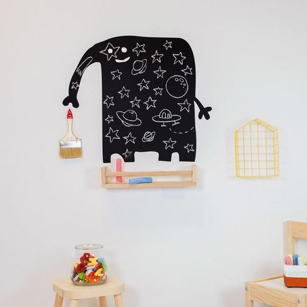 Čierna nástenná popisovateľná samolepka Chalk Elephant