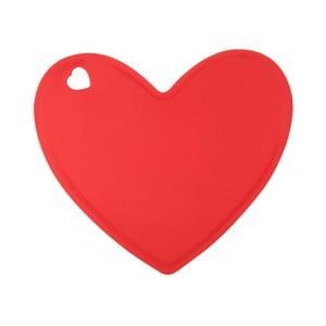 Červená silikónová doska v tvare srdca Tantitoni Lovely