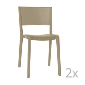 Sada 2 béžových záhradných stoličiek Resol Spot
