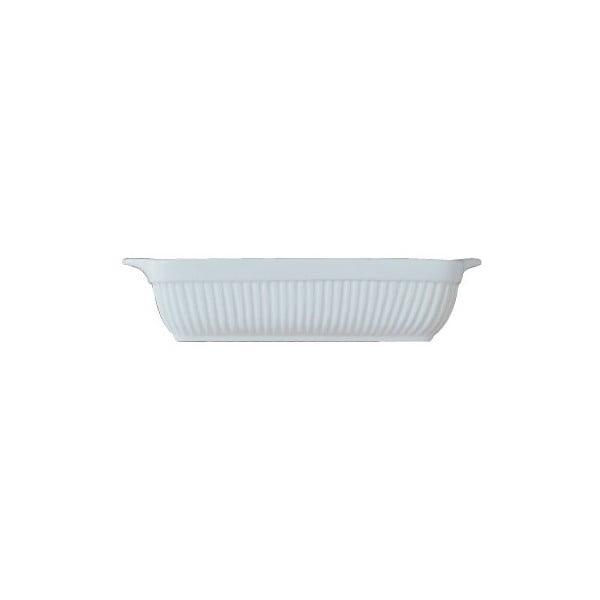 Biela kameninová zapekacia misa BergHOFF Bianco, 25 x 21 cm