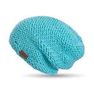 Tyrkysovomodrá ručne pletená čiapka DOKE Mina