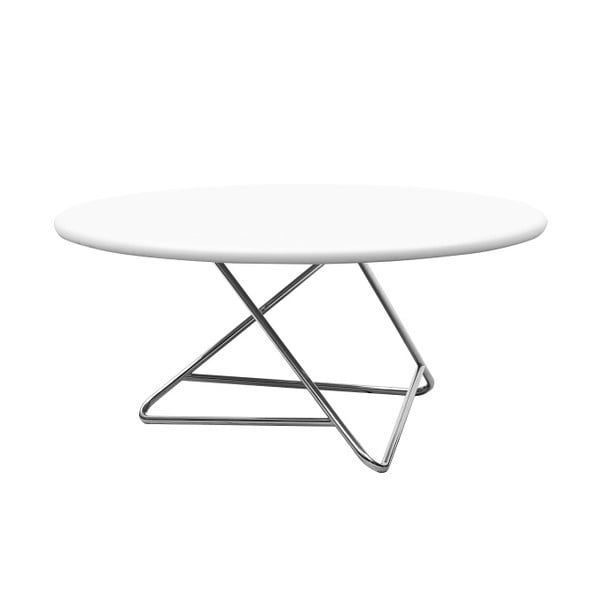 Stôl s bielou doskou Softline Tribeca,90cm