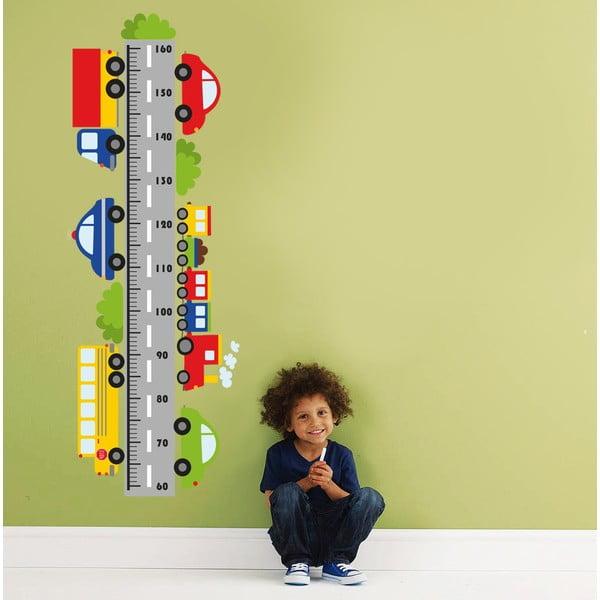 Dekoratívna samolepka na stenu Meter autá