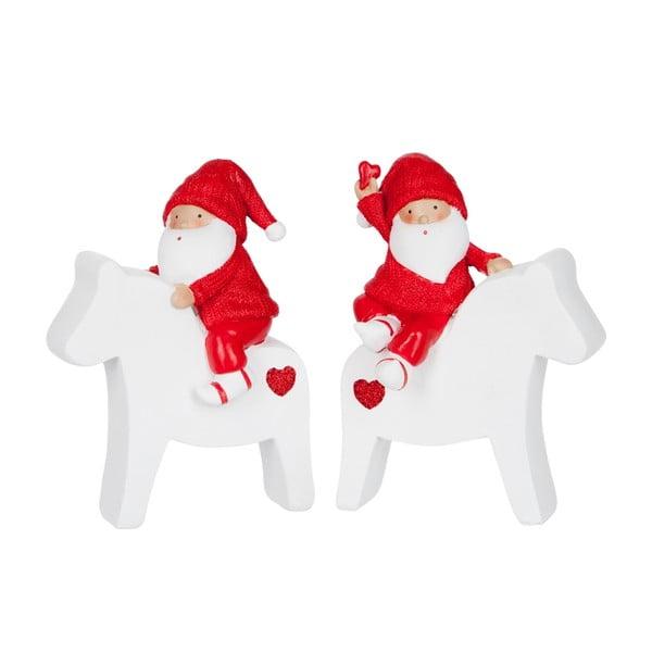 Set 2 dekorácií Santa Horse M
