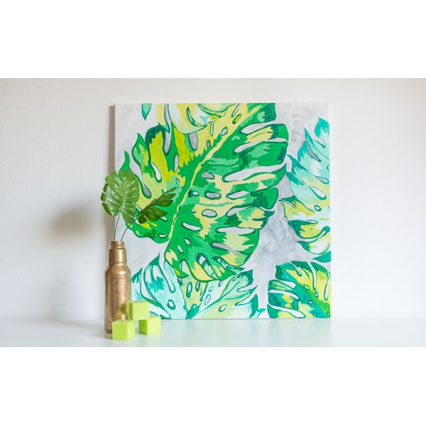 Obraz Monstera Leaves, 70x70 cm