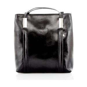 Čierna kožená kabelka/batoh Glorious Black Zara