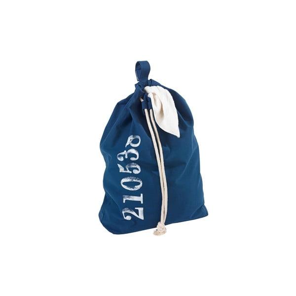Modrý závesný kôš na bielizeň Wenko Sailor, 50 l