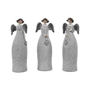 Sada 3 dekoratívnych anjelov Ego dekor Dalia, výška 15 cm