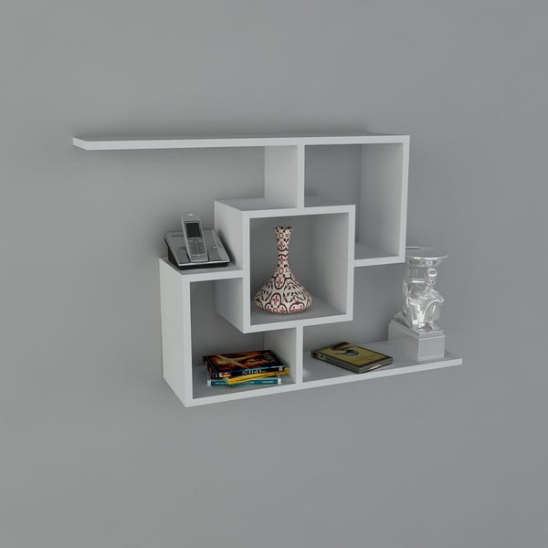 Polica Samara Book White, 22x100x64 cm