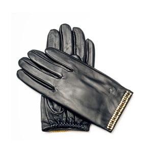 Dámske čierne kožené rukavice Pride & Dignity Sydney, veľ. 8
