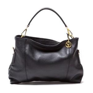 Kožená kabelka Caprice, čierna