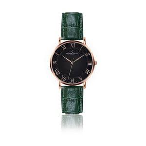 Pánske hodinky s tmavozeleným remienkom z pravej kože Frederic Graff Rose Dom Croco Dark Green