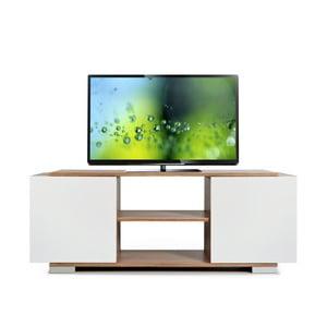 Televízny stolík Pera, biely/samba