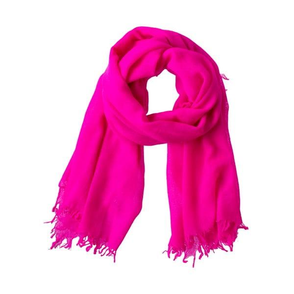 Šatka Poetry Grunge Bright Pink
