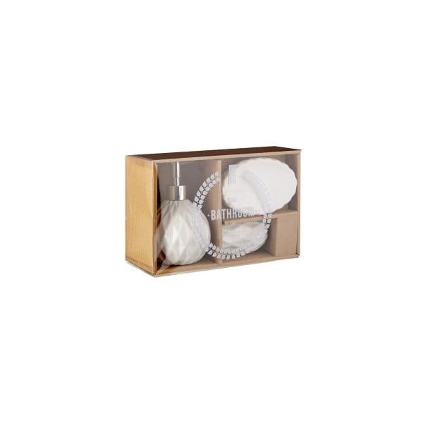 Set 3 kúpeľňových doplnkov Premier Housewares Sunrise White
