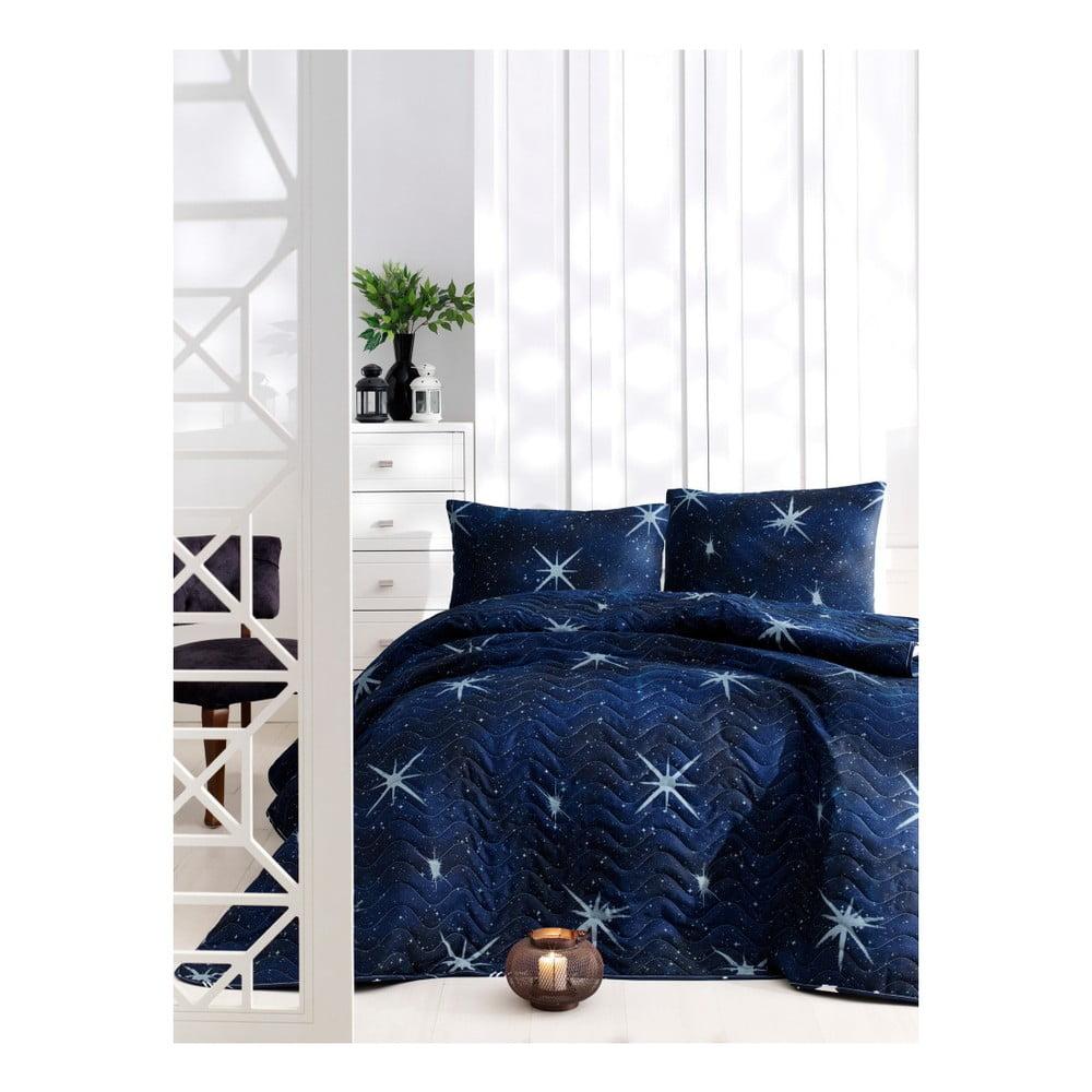 Set prikrývky cez posteľ a 2 obliečok na vankúše Masso Fico, 200 × 220 cm