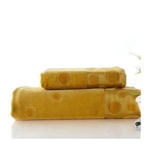 Sada uteráka a osušky Tropical Mustard, 50x90 cm a 70x140 cm