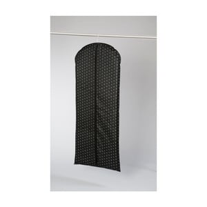 Čierny textilný obal na šaty Compactor Dots