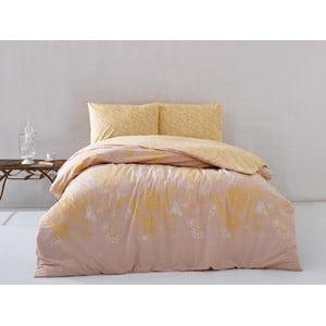 Obliečky Orange Floral s plachtou, 160x220 cm