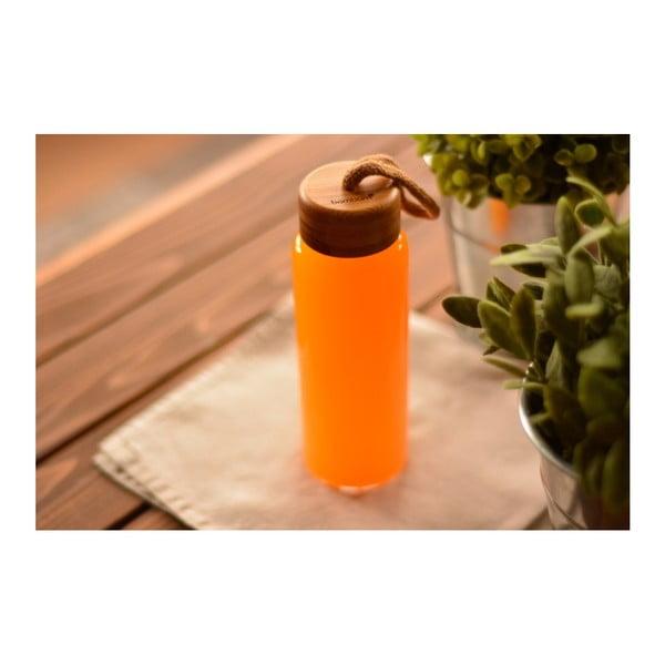 Sklenená fľaša s bambusovým uzáverom Bambum Diem, 300 ml
