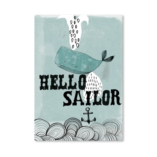 Plagát Hello Sailor, 30x42 cm