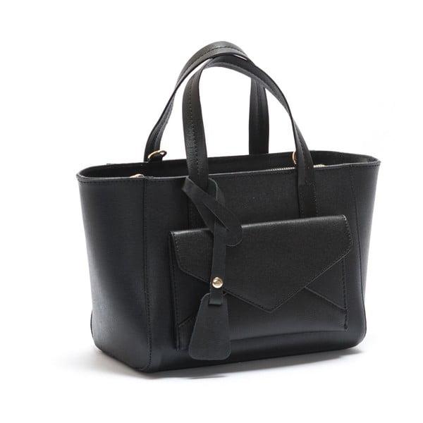 Kožená kabelka Mangotti 447, čierna