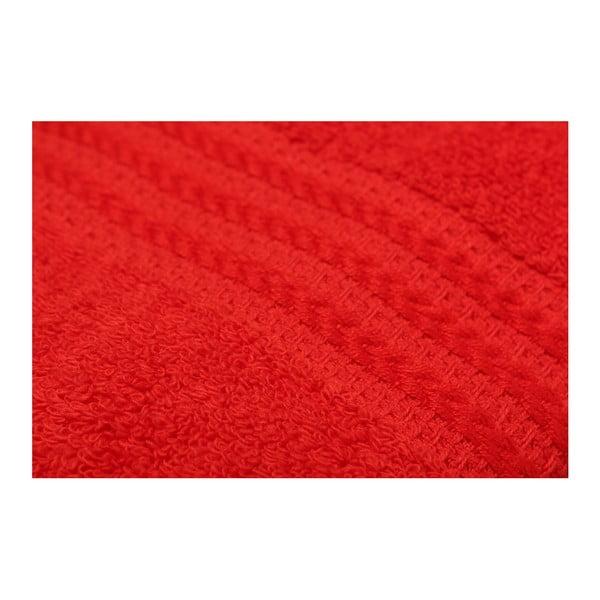 Sada 4 červených bavlnených uterákov Rainbow, 50 x 90 cm