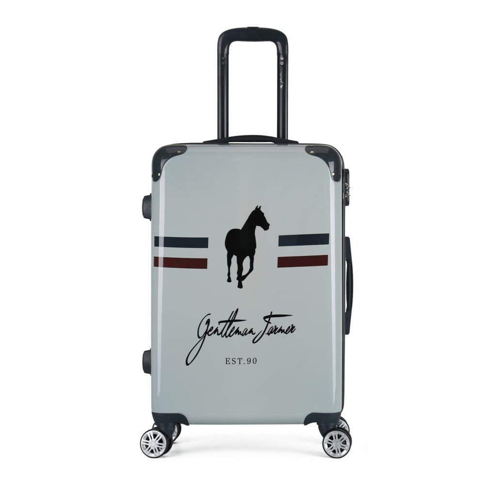 Svetlosivý cestovný kufor na kolieskach GENTLEMAN FARMER Valise Grand Format, 47 × 72 cm