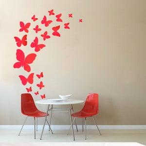 Dekoratívna samolepka na stenu Červené motýle